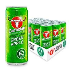 CARABAO ENERGY DRINK GREEN APPLE 330ml 69P (12 PACK)