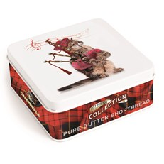 CAMPBELLS ALL BUTTER SHORTBREAD CAT WITH BAGPIPES TIN 90g