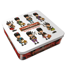 CAMPBELLS ALL BUTTER SHORTBREAD PIPERS & DRUMMERS TIN 200G