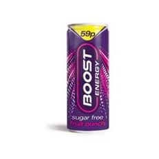 BOOST ENERGY DRINK FRUIT PUNCH 250ml 59P (24 PACK)