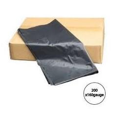 BLACK BIN BAGS 180 GAUGE