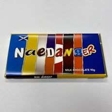 RUDE WRAPPERS SCOTTISH MILK CHOCOLATE 90g (24 PACK)