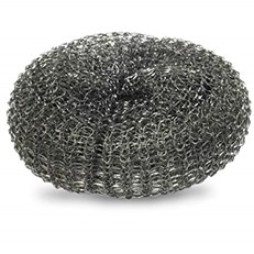 GALVANISED PAN SCOURER - MEDIUM 10 PACK