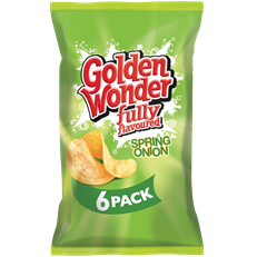 GOLDEN WONDER MULTIPACK SPRING ONION (16 x 6 PACK)