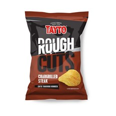 TAYTO ROUGH CUTS CHARGRILLED STEAK 50g (36 BAGS)