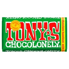 TONYS CHOCOLONELY MILK HAZELNUT 180g