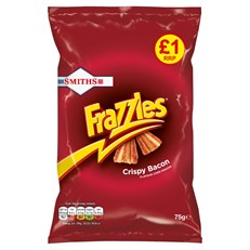 WALKERS FRAZZLES BACON £1 75g (15 PACK)