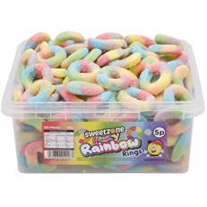 SWEETZONE 5P TUBS Fizzy Rainbow Rings