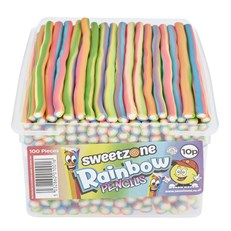 SWEETZONE TUBS PENCILS RAINBOW 10p