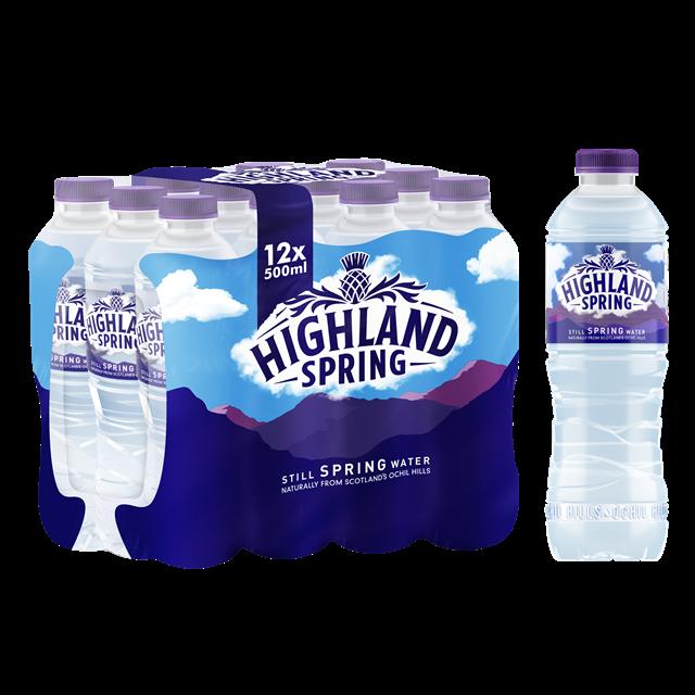 HIGHLAND SPRING STILL WATER 500ml (12 PACK)