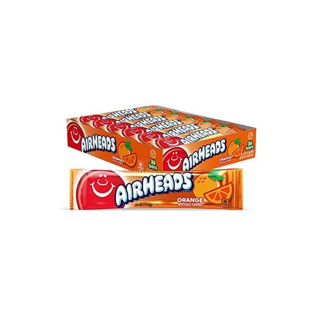 USA AIRHEADS ORANGE CHEW BARS 15.6g (36 PACK)