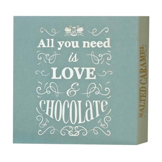 BEECH'S ALL YOU NEED IS LOVE & CHOCOLATE SALTED CARAMEL TRUFFLES 100g