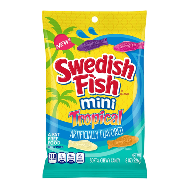 USA SWEDISH FISH MINI TROPICAL 226g