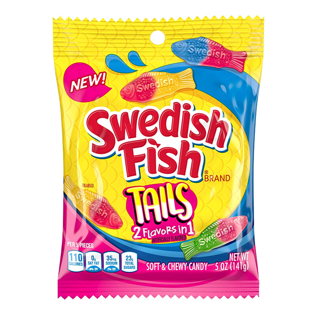 USA SWEDISH FISH TAILS 2 FLAVOURS in 1 226g