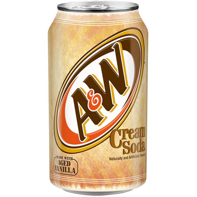 USA A&W CREAM SODA AGED VANILLA FULL SUGAR 355ml (12 PACK)