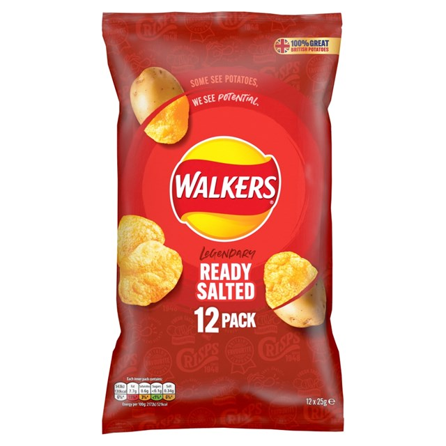WALKERS READY SALTED 25g (12 PACK)