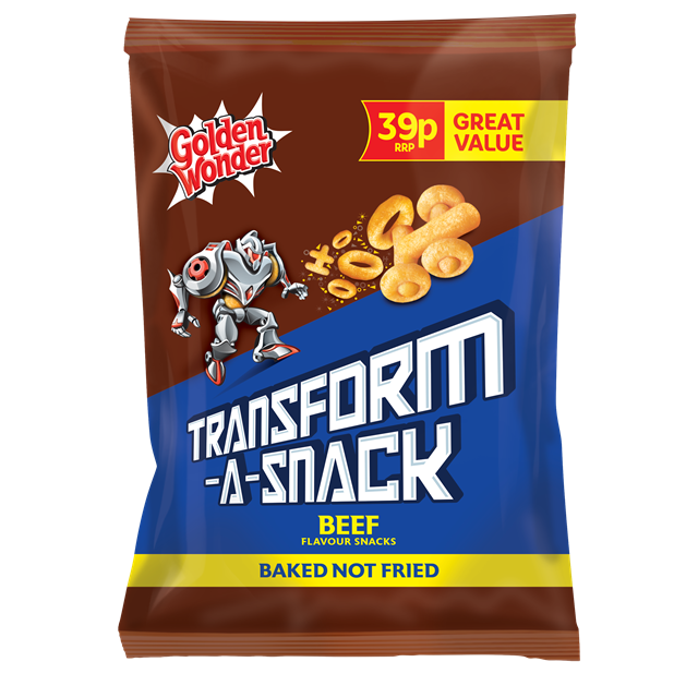 GOLDEN WONDER TRANSFORM A SNACK BEEF 30g 39p (30 PACK)