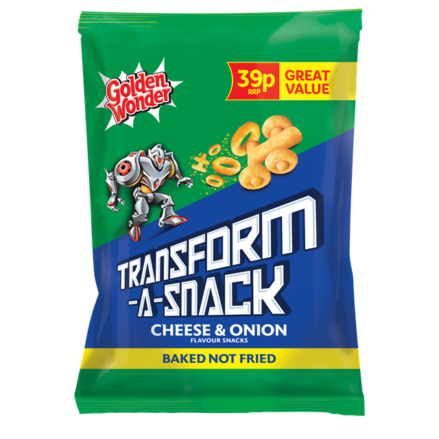 GOLDEN WONDER TRANSFORM A SNACK CHEESE & ONION 30G 39 (30 PACK)