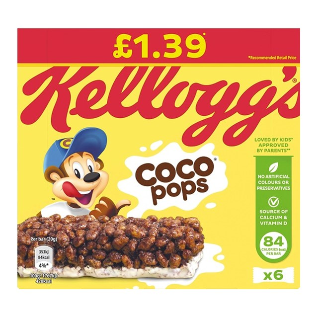 COCO POPS CEREAL BARS £1 (12 x 4 PACK)