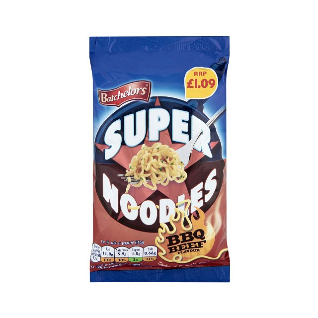 SUPERNOODLES BBQ PM £1.09