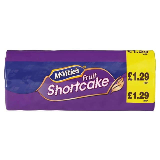 MCVITIES £1.29 FRUIT SHORTCAKE 12for10