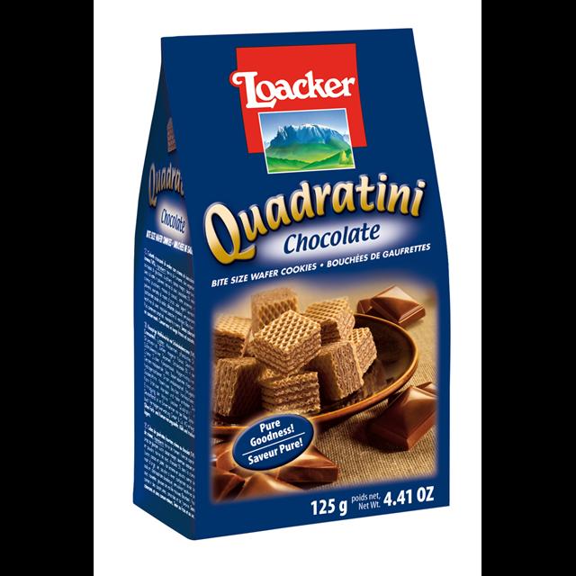 LOACKER QUADRATINI CHOCOLATE WAFER BISCUITS 125g