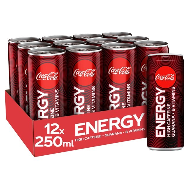 COCA COLA ENERGY BOLD 250ml £1 NOW WITH EXTRA COCA COLA TASTE (12 PACK)