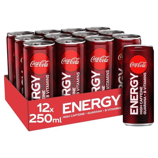 COCA COLA ENERGY CHERRY £1 12 CANS