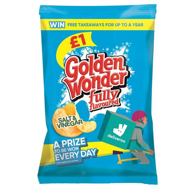 GOLDEN WONDER £1 SALT & VINEGAR