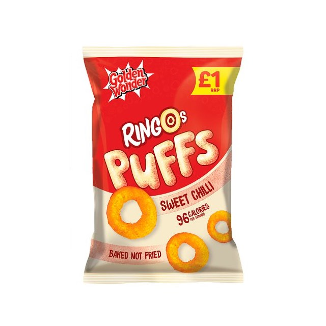 GOLDEN WONDER £1 RINGOS SALT & VINEGAR