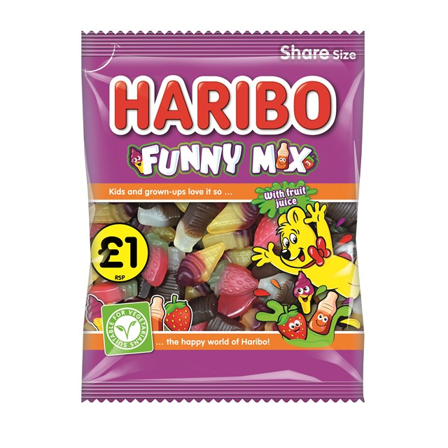 HARIBO £1 FUNNY MIX 160g (12 PACK)