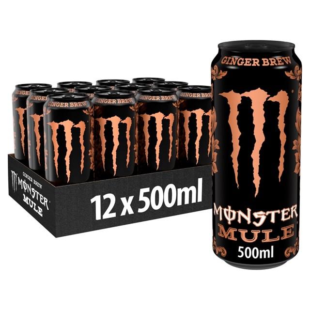 MONSTER ENERGY DRINK MULE GINGER BREW 500ml (12 PACK)