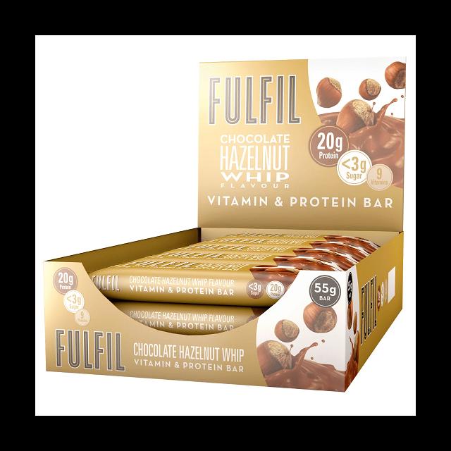FULFIL PROTEIN BAR CHOCOLATE HAZELNUT WHIP 55g (15 PACK)