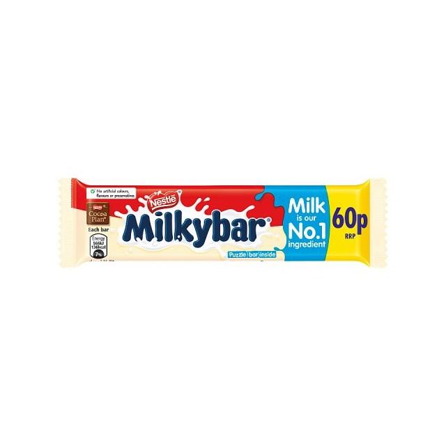 MILKYBAR WHITE CHOCOLATE 25g 60p (40 PACK)