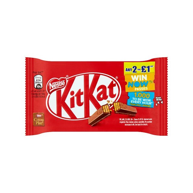 KIT KAT 4 FINGER 2FOR£1