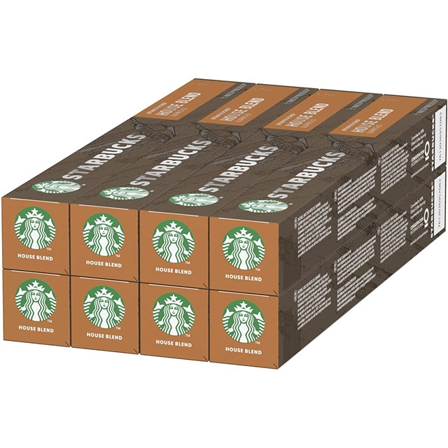 STARBUCKS HOUSE BLEND PCC 8 x 10 CAPSULES OCTOBER 2020 DATED