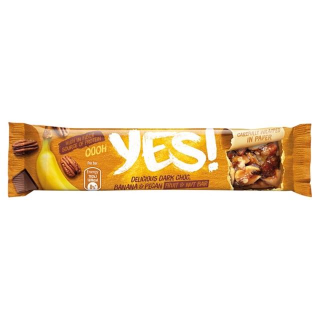YES! PECAN BANANA & DARK CHOC 35g (12 PACK)