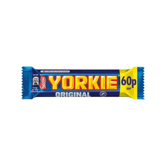 NESTLE YORKIE MILK CHOCOLATE 46g 60p (24 PACK)