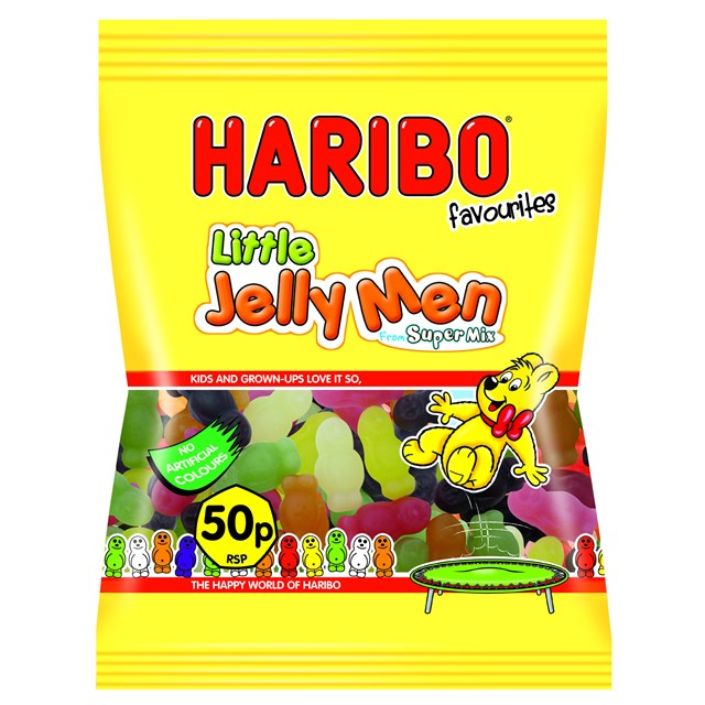 HARIBO 50P LITTEL JELLY MEN