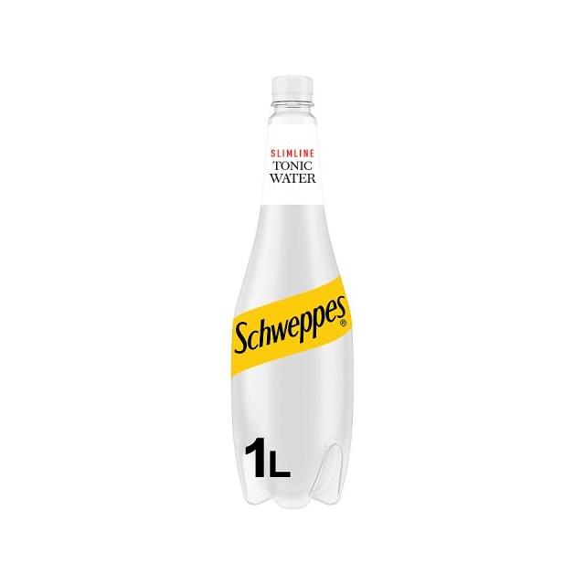 SCHWEPPES SLIMLINE TONIC 1LITRE