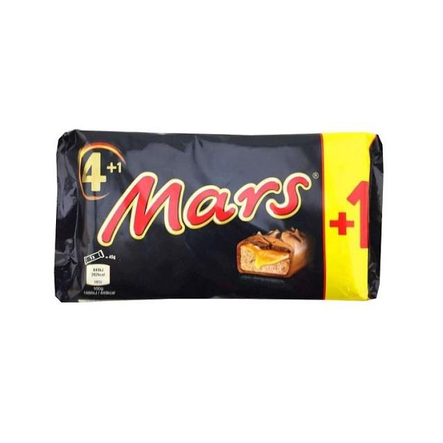 MARS CHOCOLATE BAR  4+1 MULTIPACK 45G BARS (17 PACK)