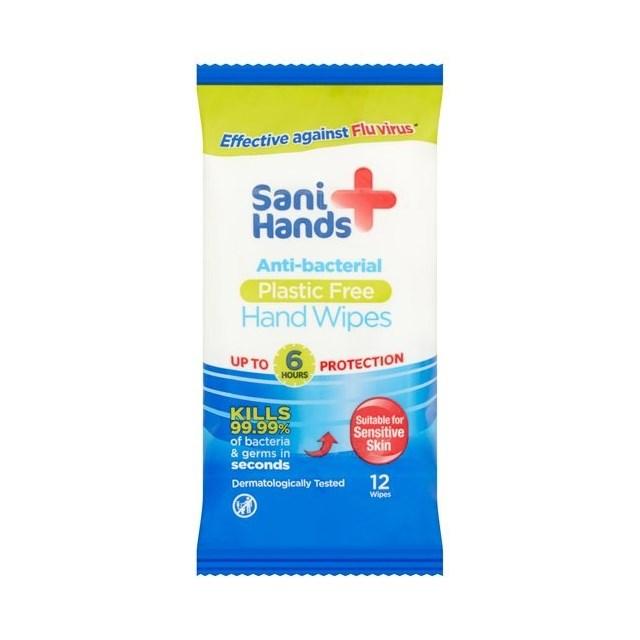SANI HANDS ANTIBAC HAND WIPES LIMIT 3