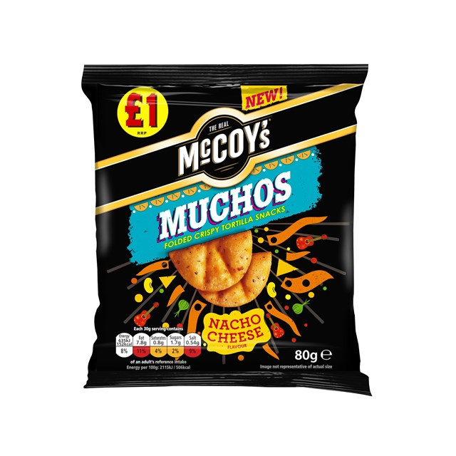 MCCOYS MUCHOS NACHO CHEESE 80g £1 (14 PACK)