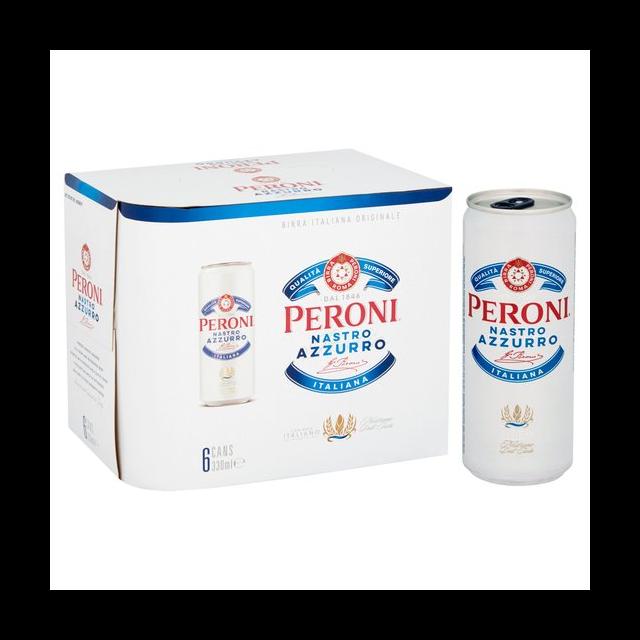 PERONI NASTRO AZZURRO 330ml CANS (4 x 6 PACK)