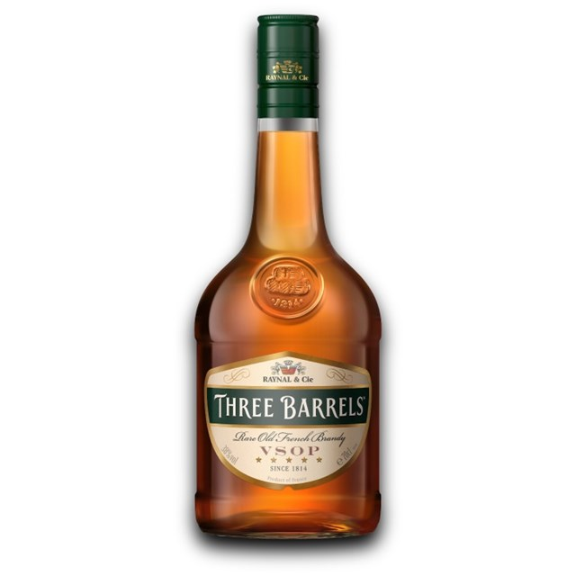 THREE BARRELS BRANDY SINGLE BOTTLE