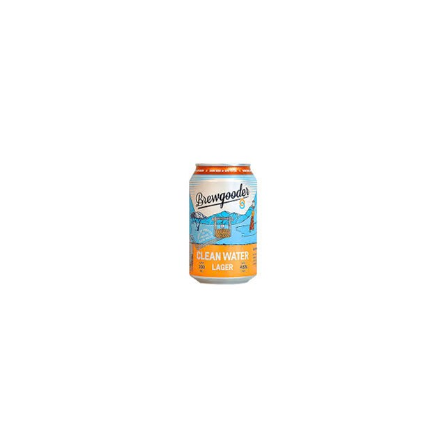 BREWGOODER CLEAN WATER LAGER CAN