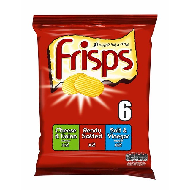 FRISPS 6PACK ASSORTED FLAVOURS