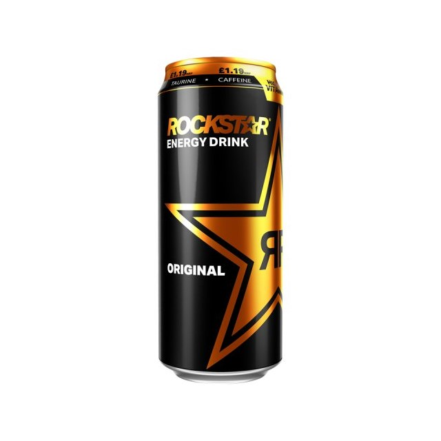 ROCKSTAR ENERGY DRINK ORIGINAL £1.19 500ml 12 CANS