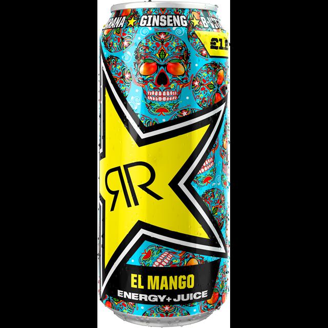 ROCKSTAR ENERGY DRINK BAJA JUICED EL MANGO £1.29 12 CANS