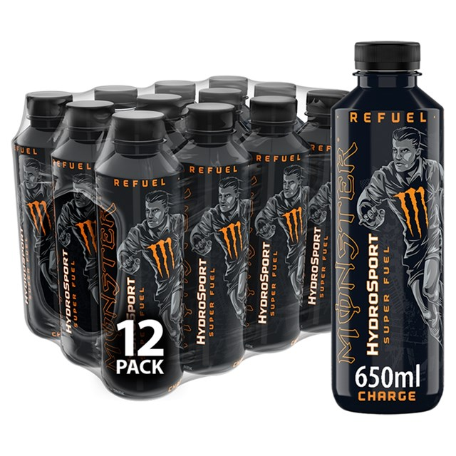 MONSTER HYDROSPORT CHARGE SPORTS ENERGY DRINK  £1.49 .650ml (12 BOTTLES)